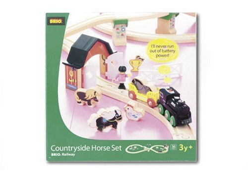 33012 Wooden Railway Countryside Horse Set