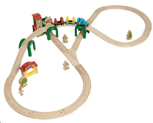 33051 Wooden Railway System: Track & Stack City Set