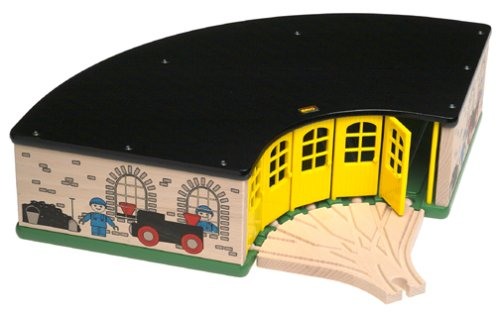 33456 Wooden Railway System: Grand Roundhouse