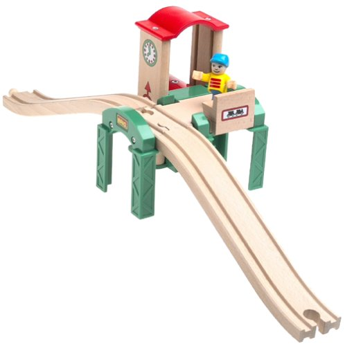 33532 Wooden Railway System: Platform with Elevator