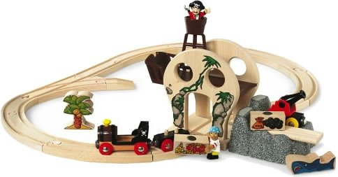 33900 Wooden Railway System: Pirate Adventure Set (25 Pieces)