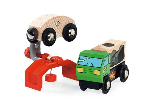 33928 Wooden Road & Railway System: Sky Train Crane Wagon