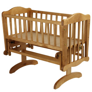 Glider Crib - Antique Pine Finish