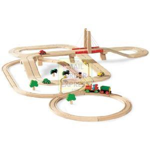 Plan Toys Road and Rail Set 68 Piece Set
