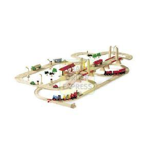 Plan Toys Road and Rail Transportation Set