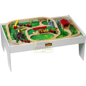 PlayTable with Wooden Railway