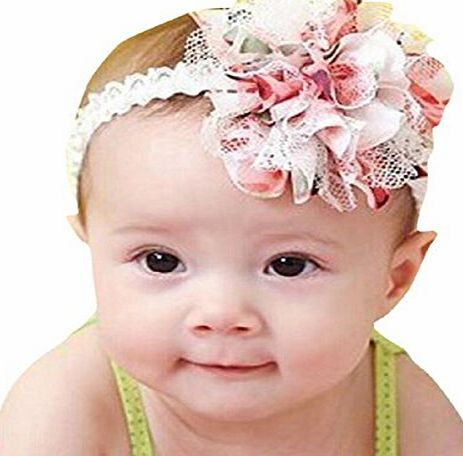 Brisky Babies Headband, Brisky Flower Girl Lace Infant Hair Weave Baby Accessories