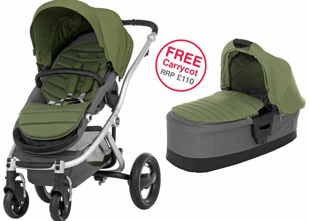 Affinity Silver Stroller Cactus Green 2014