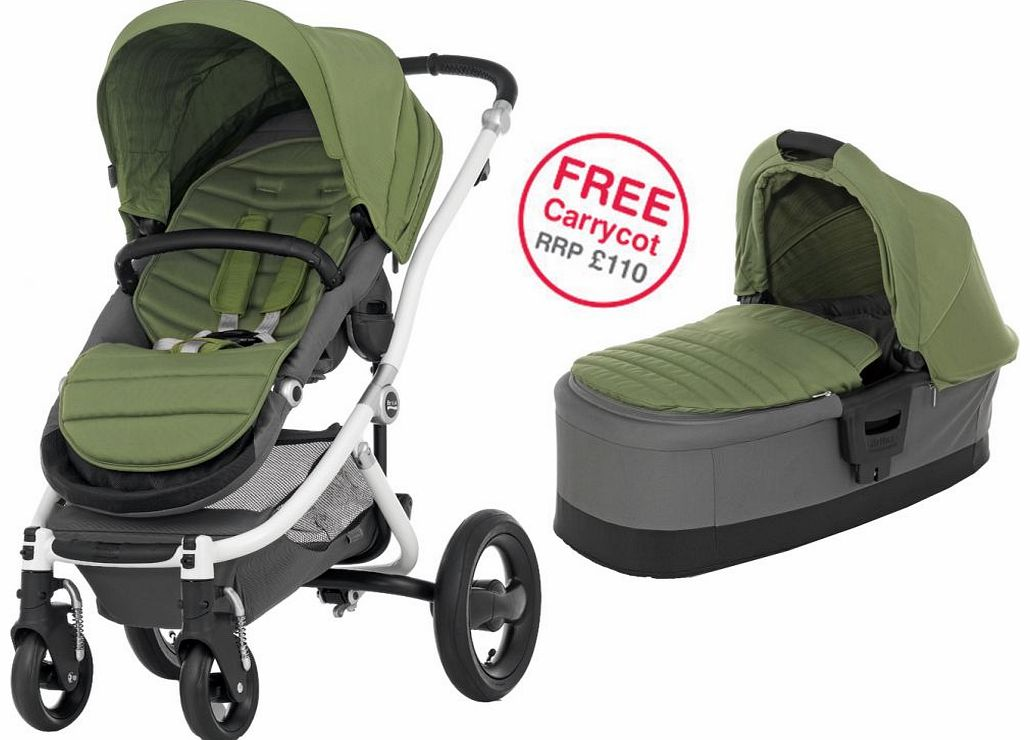 Affinity White Stroller Cactus Green 2014