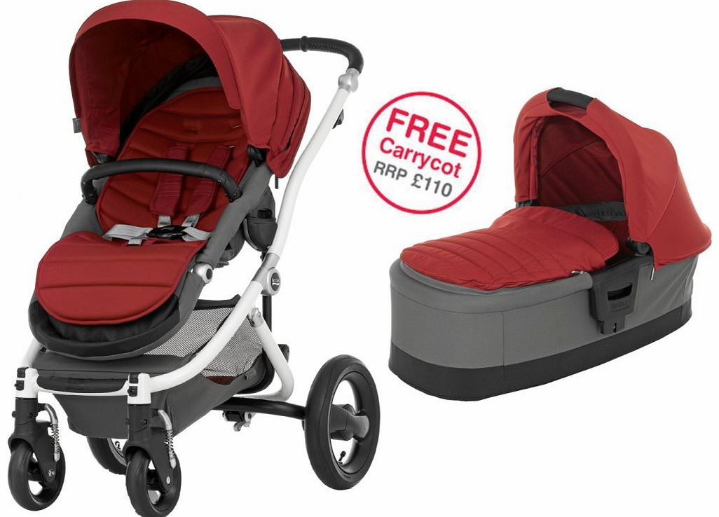 Affinity White Stroller Chilli Pepper 2014