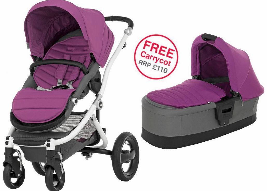 Affinity White Stroller Cool Berry 2014