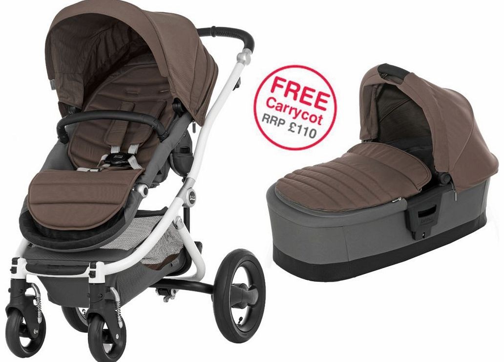 Affinity White Stroller Fossil Brown 2014