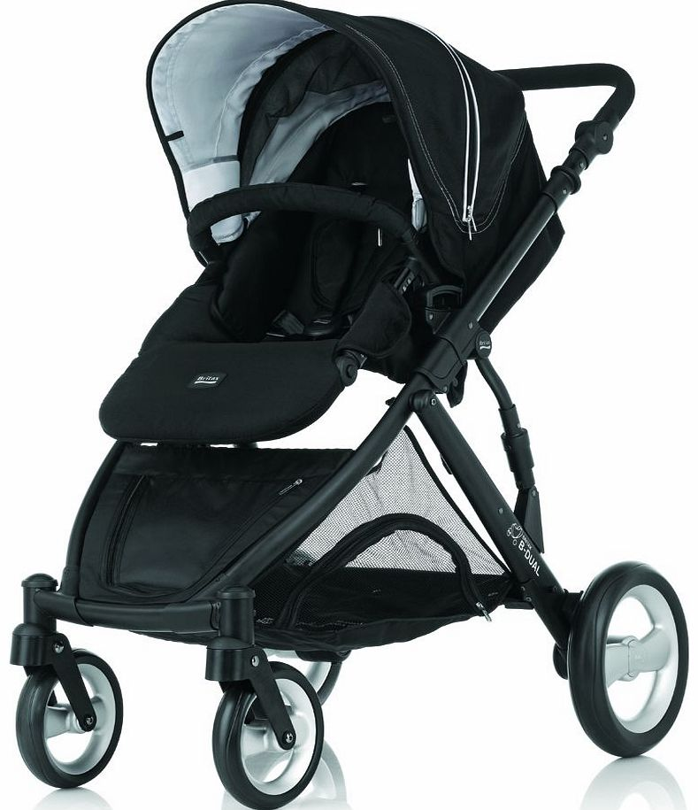 B Dual Pushchair Black Thunder 2014