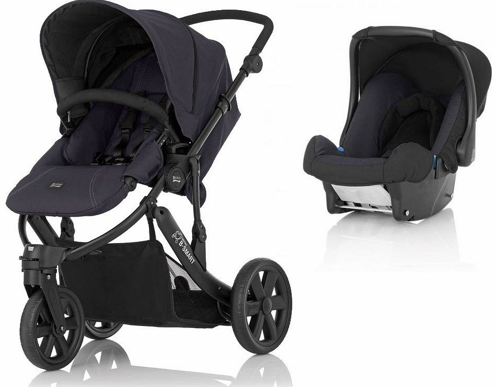 B Smart 3 Stroller Black Thunder With