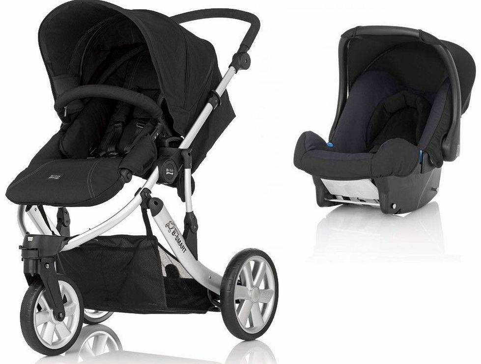B Smart 3 Travel System Neon Black 2014