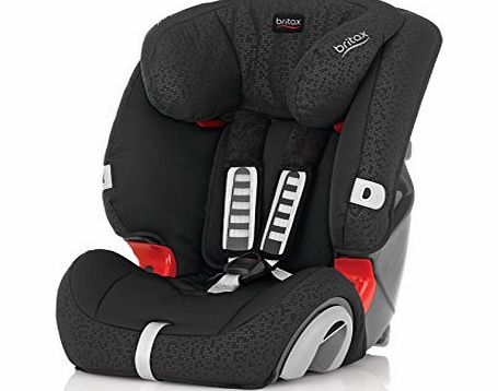 Evolva 1-2-3 Group 1/2/3 9 Months - 12 Years Forward Facing Car Seat (Black Thunder)