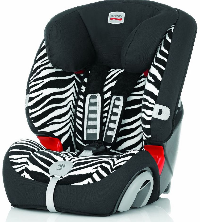 Evolva 1-2-3 Plus Car Seat Smart Zebra 2014