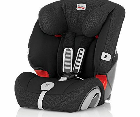 Evolva 1-2-3 Plus Group 1/2/3 9 Months - 12 Years Forward Facing Car Seat (Black Thunder)