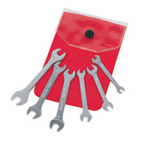 6 Piece Metric Midget Open Jaw Spanner Set