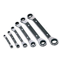 6 Piece Metric Offset Ratchet Ring Spanner Set
