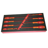 8 Piece Parallel and Phillips Insulated Screwdriver Set