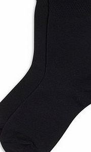 6 x BRITWEAR® Kids Children Boys Girl Cotton Rich Plain School Socks Size:4-6 Colour:Black