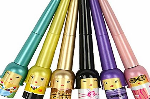 Broadfashion 1x Cute Lucky Doll Black Waterproof Liquid Eyeliner Pen Makeup Cosmetic (Random Colour)