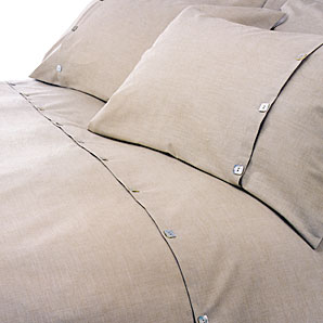 Brompton Pillowcase- Stone- Standard