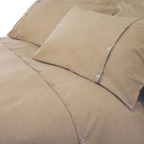 Brompton Slub Duvet Cover- Single- Flax