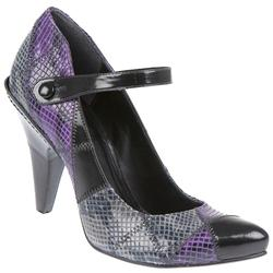Female Abrasivato Snake C3 Leather Upper Leather/Other Lining in Black Purple, Grey Mix