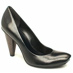 Female Anette Court Leather Upper in Black, Grey