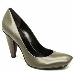Female Anette Court Leather Upper in Grey