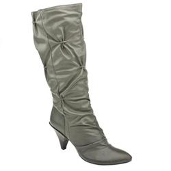 Female Bronx Nazza Stack Leather Upper in Grey