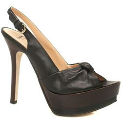 Female Galaxy Knot Slingback Leather Upper in Black, Tan