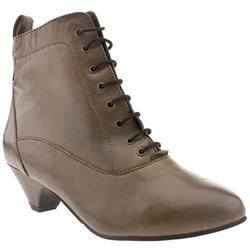Female Nonna Lace Up Ankle Leather Upper ?40 plus in Natural