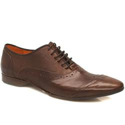 Male Bronx Brad Wing Oxford Leather Upper in Brown