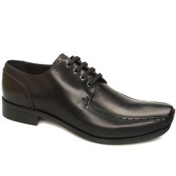 Male Bronx Morrison Tram Gibson Leather Upper in Black