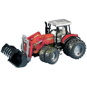 Bruder Massey Ferguson 8240 With Frontloader and Twin Tyres