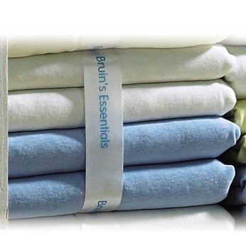 4 Pack Cotbed Jersey Fitted Sheets - Blue/White