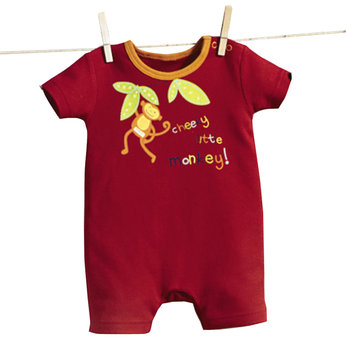 Cheeky Monkey Romper - Newborn