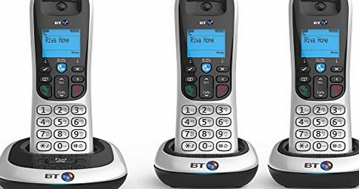 BT 100 Cordless DECT Phone (Trio Handset Pack) (Certified Refurbished)