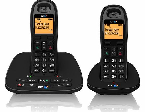 1500 Cordless DECT Phone with Answer Machine (Pack of 2)