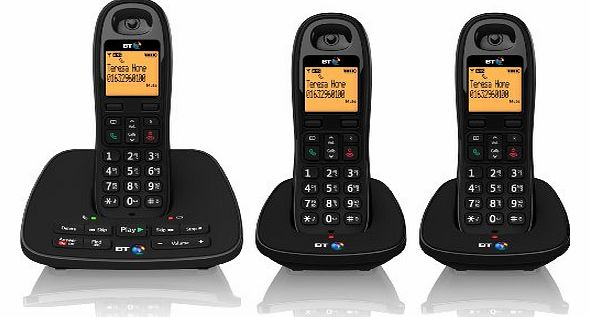 1500 Cordless DECT Phone with Answer Machine (Pack of 3)