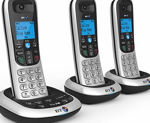 BT 2700 Nuisance Call Blocker Cordless Home Phone with Digital Answer Machine (Trio Handset Pack)