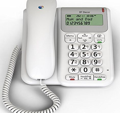 BT Decor 2200 Corded Telephone - White (Certified Refurbished)