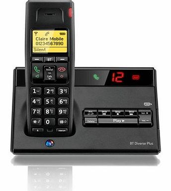 Diverse 7150 Plus Single DECT Phone with Answer Machine - Black
