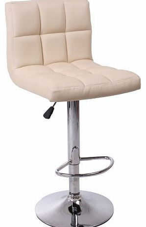 BTM (BTM) CUBAN BREAKFAST BAR STOOL PU LEATHER BARSTOOL KITCHEN STOOLS CHROME OFFICE CHAIR (cream)