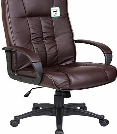 BTM (BTM)EXECUTIVE OFFICE CHAIR PADDED LEATHER HIGH BACK OFFICE CHAIR GAMING CHAIR STUDY CHAIR BUCKET CHAIR ERGONOMIC CHAIR(WALNUT)