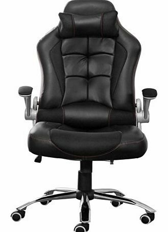 Luxury Desk Chair Swivel PC office chair Tilt Function Padded Adjustable Height Ergonomic PU Leather Cool
