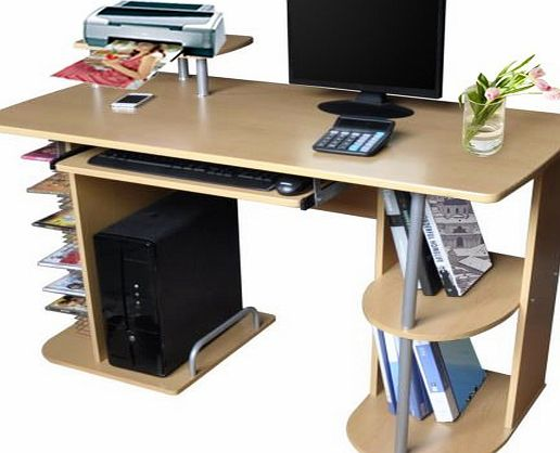 Multi-function Workstation Desk laptop stand with Keyboard Shelf Book Case CD DVD-ROM storage for PC Or Mac Table